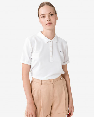 Tommy Hilfiger bílé dámské tričko Essential Polo