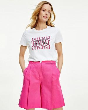 Tommy Hilfiger bílé dámské tričko Tee