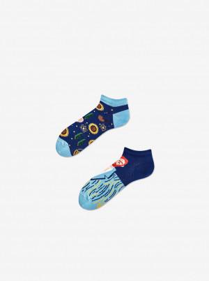 Modré unisex vzorované kotníkové ponožky Many Mornings True Vincent - 35-38