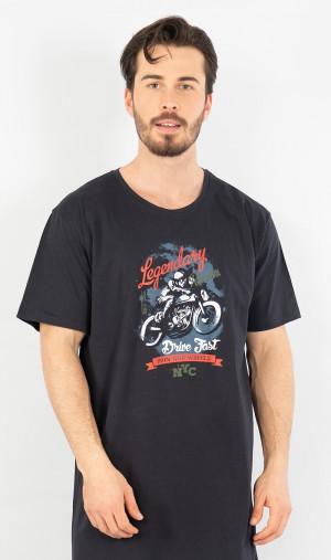 Pánská noční košile s krátkým rukávem Legendary - Gazzaz zelená