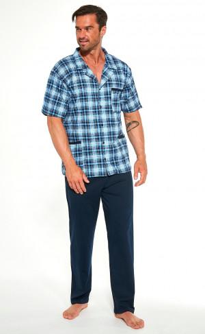 Rozepínací pánské pyžamo Cornette 318/44 3XL-5XL niebieski 3XL