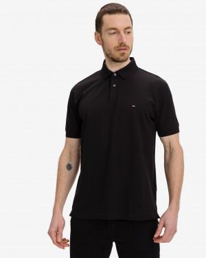 Tommy Hilfiger černé pánské polo tričko Core 1985