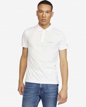 Tommy Hilfiger bílé pánské polo tričko