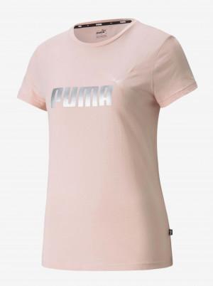 Světle růžové dámské tričko s potiskem Puma