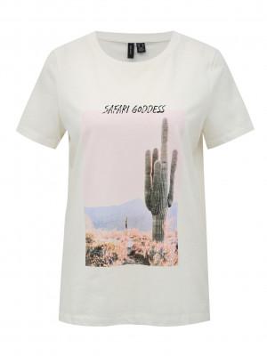 Desert Triko Vero Moda Bílá