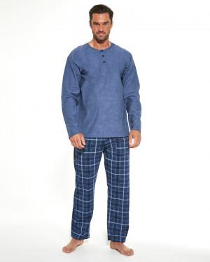 Pánské pyžamo DR 458/190 PATRICK MELANGE BLUE