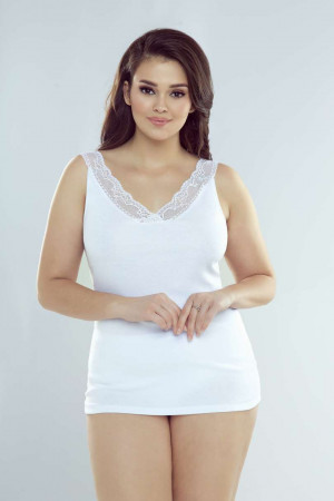 Dámská košilka SHEILA PLUS bílá 3XL