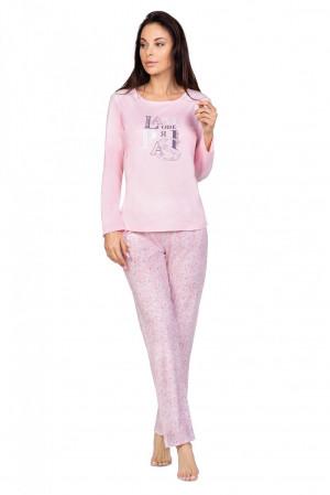 Dámské pyžamo Regina 966 dł/r S-XL niebieski