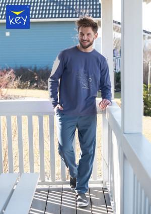 Pánské pyžamo Key MNS 744 B21 M-2XL jeans