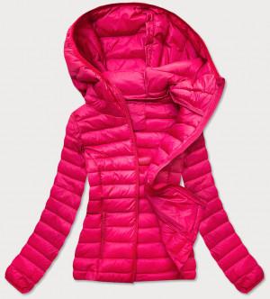 Růžová prošívaná dámská bunda (20313) różowy S (36)