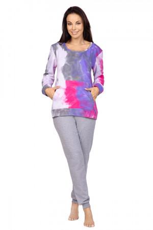 Dámské pyžamo 979 BIG FIOLETOWY 2XL