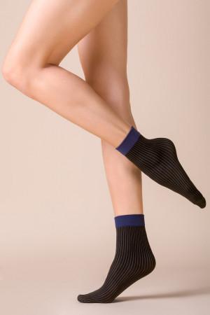 Hrubší ponožky se vzorem LIA NERO UNIWERSALNY