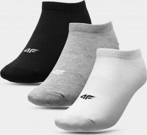 Dětské ponožky 4F JSOM006 bílé_šedé_černé Barevné 32-35