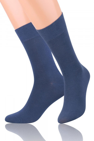 Pánské ponožky 063 - Steven tmavě modrá 44-46
