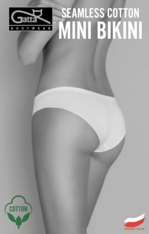 Dámské kalhotky Seamless Cotton Mini Bikini - Gatta černá
