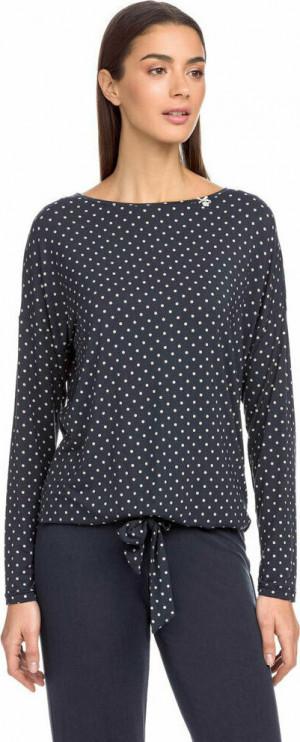 Dámské pyžamo 15068 - 572 tmavě modrá s puntíky - Vamp tmavě modrá