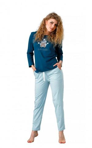 Dámské pyžamo M-Max Laveza Trudy 1072 dł/r S-XL morski-zielony