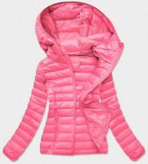 Světle růžová prošívaná dámská bunda (20313) różowy S (36)