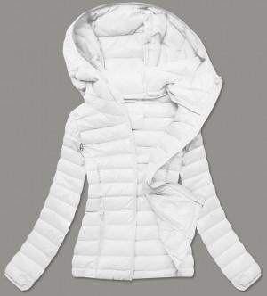 Prošívaná dámská bunda v barvě ecru (20313) Ecru S (36)