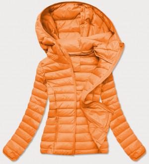 Oranžová prošívaná dámská bunda (20313) oranžový S (36)