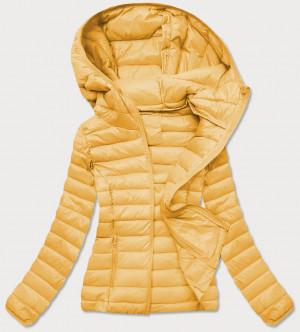 Žlutá prošívaná dámská bunda (20313) żółty S (36)