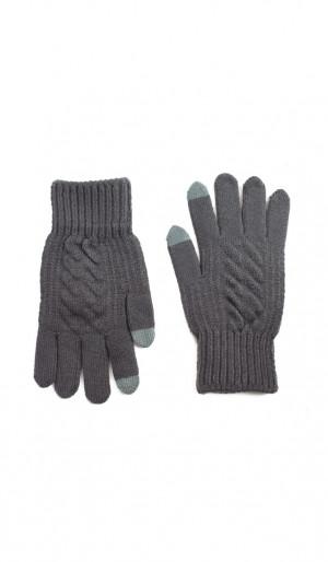 Pánské rukavice Art 20314 Minimalistický vzor černá 25 cm