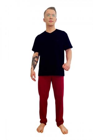 Pánské pyžamo KEVIN 624 GRANAT+BORDO