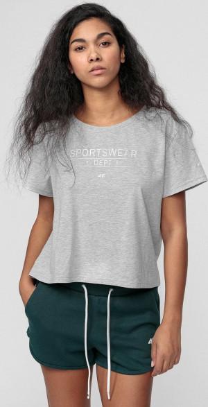 Dámské tričko 4F TSD013 šedé Šedá