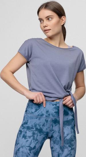 Dámské tričko 4F TSD023 modré denim Modrá