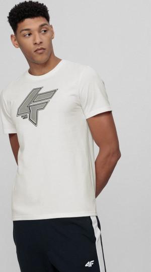 Pánské tričko 4F TSM010 bílé Bílá 3XL