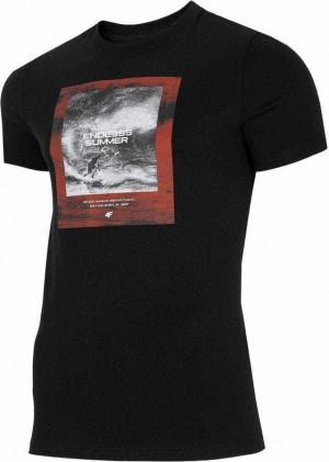 Pánské tričko 4F TSM028 černé Černá