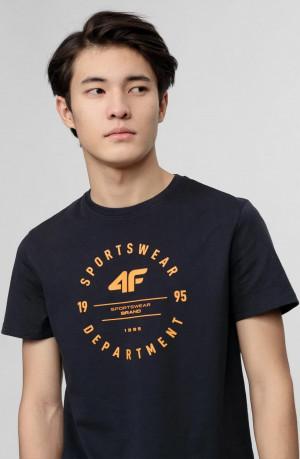Pánské tričko 4F TSM030 tmavě modré Modrá