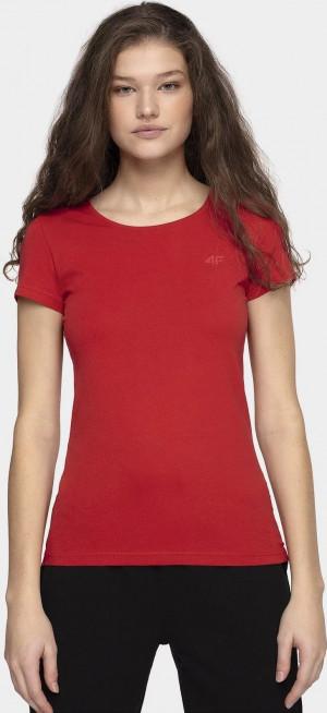 Dámské tričko 4F TSD001 červené Červená