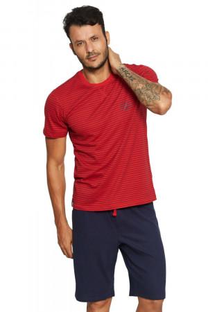 Pánské pyžamo 37829 red červeno-modrá