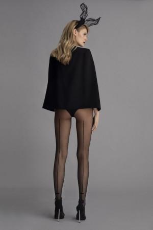 Dámské punčochové kalhoty Christy G 5935 - Fiore černá 4-L