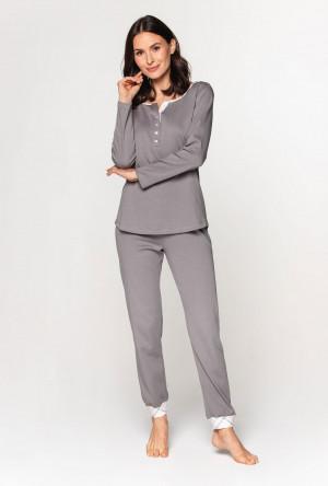 Dámské pyžamo Cana 592 dł/r S-XL šedá