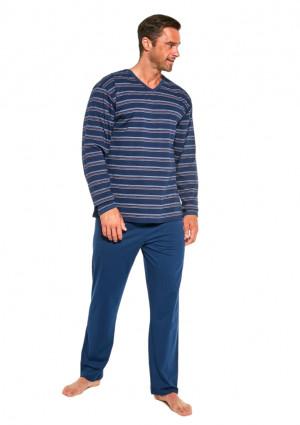 Pánské pyžamo Cornette 139/23 XXL Tm. modrá