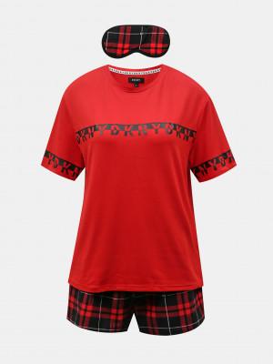 Pyžamo DKNY Červená