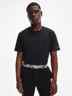 Calvin Klein černé pánské tričko s logem