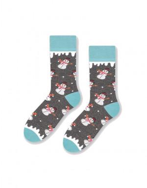 Dámské ponožky More 078 Mikuláš světlá zelenomodrá 35-8