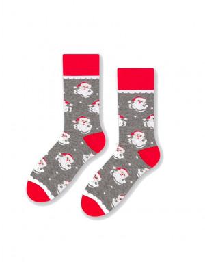 Pánské sváteční ponožky More 079 šedá žíhaná 39-42