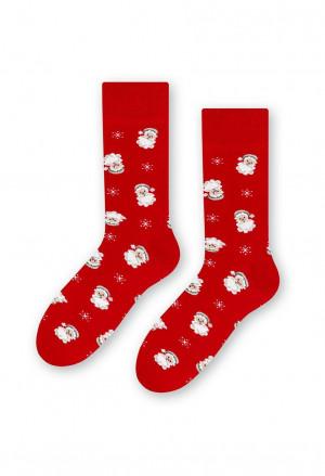 Pánské sváteční ponožky Steven art.136 41-46 červená 41-43