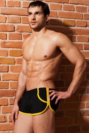 Pánské plavky Imago - Alpha Male černo-žlutá