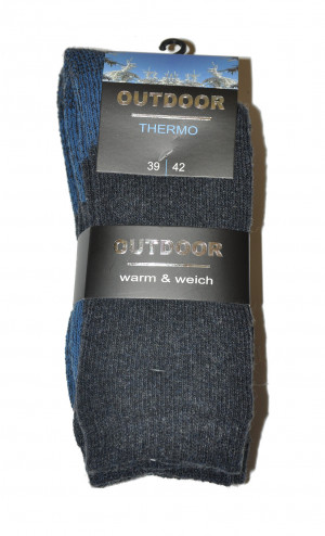 Pánské ponožky WiK 20654 Outdoor Thermo A'2 czarne 39-42