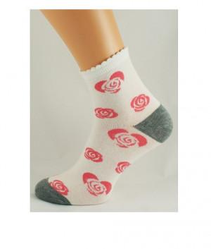 Dámské vzorované ponožky Bratex D-001 36-41 beż melanż 36-38