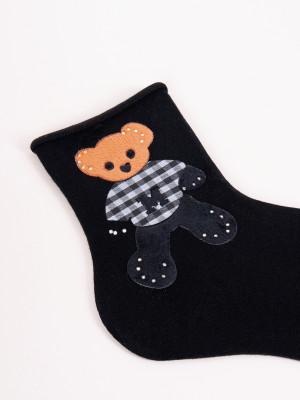 Dámské ponožky s ozdobnými kamínky SK-95 36-41