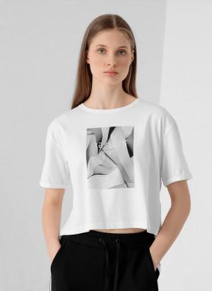 Dámské tričko 4F H4Z21-TSD029 Bílé Bílá