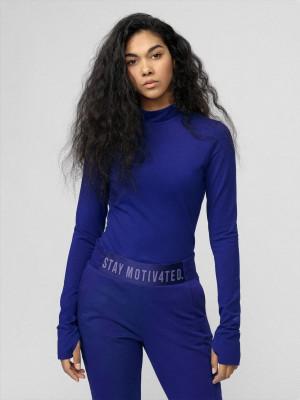 Dámské tričko 4F TSDL010 Modré Modrá