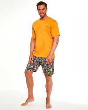 Cornette 326/192 Beer Pánské pyžamo XL oranžová