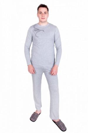 YO! PJ-016 Pánské pyžamo XL Šedá